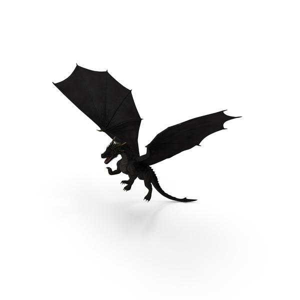 Black Dragon Flying PNG & PSD Images