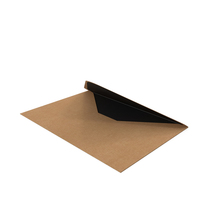 Craft and Black Envelope PNG & PSD Images