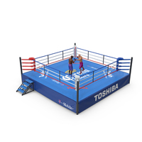 Boxers Fighting In Boxing Ring PNG & PSD Images