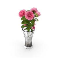 Camellia Bouquet Pink in Vase PNG & PSD Images