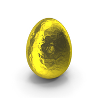 Egg Easter in Silver Yellow Foil PNG & PSD Images
