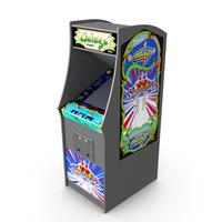 Galaga Arcade Machine PNG & PSD Images