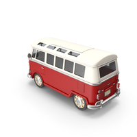 Toon Classic Minibus PNG & PSD Images