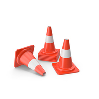 Traffic Cones Small PNG & PSD Images