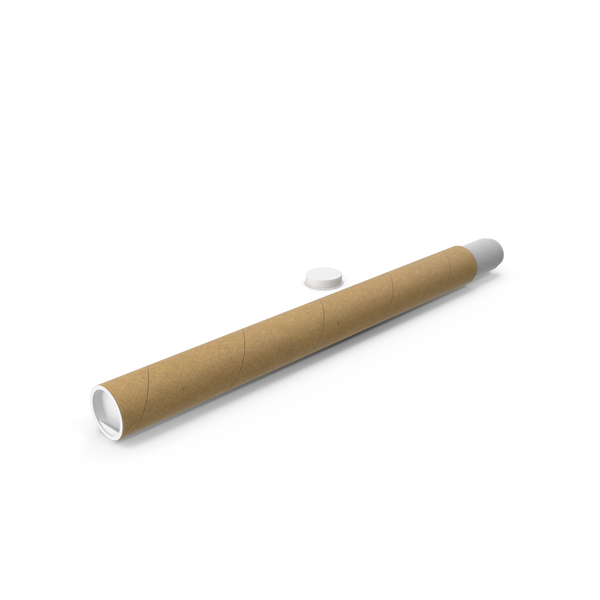 Cardboard Tube with Papers PNG & PSD Images