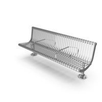 Chrome Coated Bench PNG & PSD Images