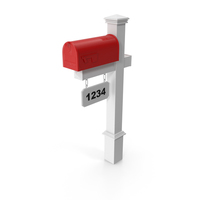 Classic Mailbox Wooden Stand PNG & PSD Images