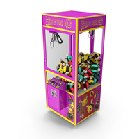 Claw Vending Machine with Toys PNG & PSD Images