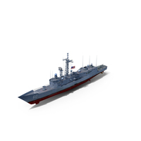 Frigate USS Rodney M. Davis FFG-60 PNG & PSD Images