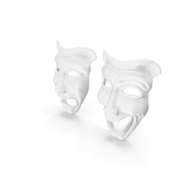 Comedy And Tragedy Theater Masks PNG & PSD Images