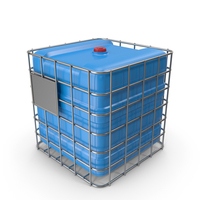 Plastic Water Tank In Cage Blue PNG & PSD Images