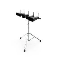 Cowbell Drum Set With Stand PNG & PSD Images
