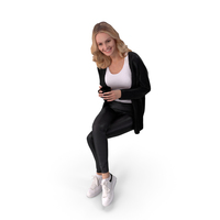 Casual Woman Sitting PNG & PSD Images