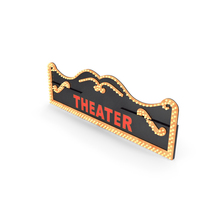Decorative Theater Sign PNG & PSD Images