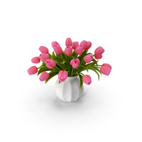 Tulips Bouquet Pink PNG & PSD Images