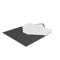 Black Envelope with Paper Card PNG & PSD Images