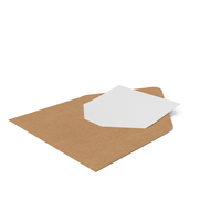 Craft Envelope with Paper Card PNG & PSD Images