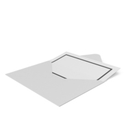 White Envelope with Paper PNG & PSD Images