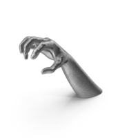 Silver Hand Object Grip Pose PNG & PSD Images