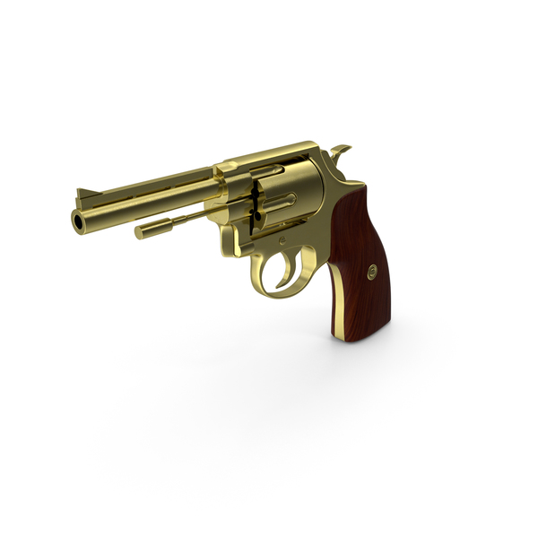 Gold Revolver PNG & PSD Images