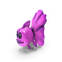 Cartoon Golden Fish Pink PNG & PSD Images