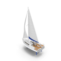 White Sailing Yacht PNG & PSD Images