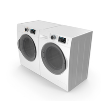 Dryer and Washing Machine Generic White PNG & PSD Images
