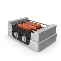 Electric Rolling Hotdog Machine with Sausages PNG & PSD Images