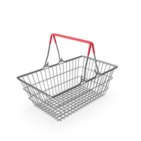 Empty Metal Shopping Basket PNG & PSD Images