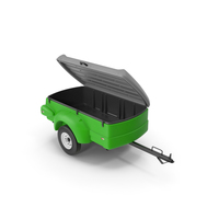 Enclosed Small Cargo Trailer Open PNG & PSD Images
