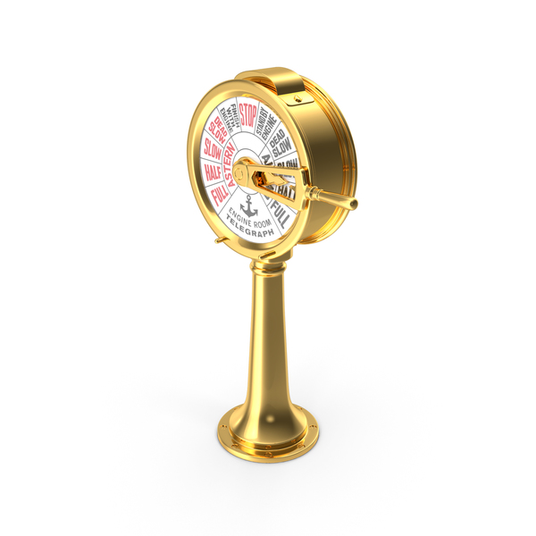 Engine Order Telegraph with Moving Handle PNG & PSD Images
