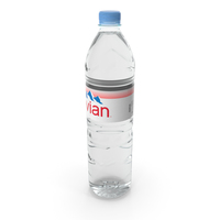 Evian Natural Mineral Water Plastic Bottle PNG & PSD Images