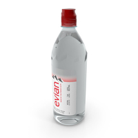 Evian Water 750ml Plastic Bottle PNG & PSD Images