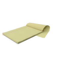 Blank Yellow Legal Pad PNG & PSD Images