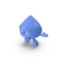 Cartoon Character Water Drop Smiling PNG & PSD Images