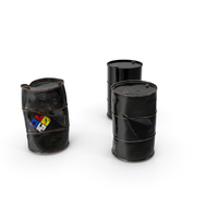 Chemical Barrels NFPA 704 Set PNG & PSD Images