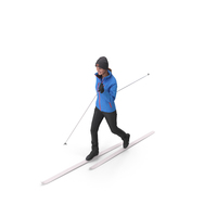Skier Woman Posed PNG & PSD Images