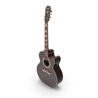 Electro Acoustic Guitar Black PNG & PSD Images
