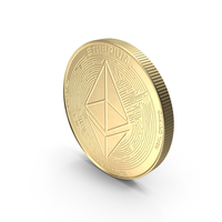 Ethereum ETH Cryptocurrency Coin Gold PNG & PSD Images