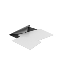 Black Envelope with Paper Cards PNG & PSD Images