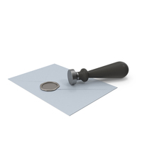 Blue Envelope with Wax Seal and Stamp PNG & PSD Images