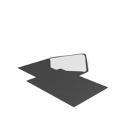 Two Black Envelopes PNG & PSD Images