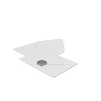 Two White Envelopes with Wax Stamp PNG & PSD Images