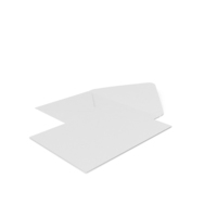 White Envelope with Paper Card PNG & PSD Images
