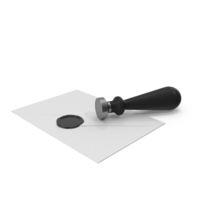 White Envelope with Wax Seal and Stamp PNG & PSD Images