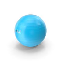 Fitness Stability Ball Blue PNG & PSD Images