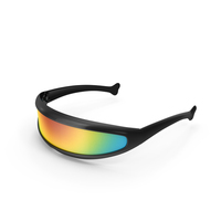 Futuristic Cyclops Shield Sunglasses PNG & PSD Images