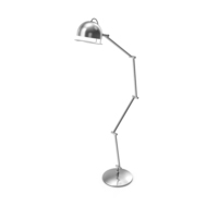 Silver Floor Lamp PNG & PSD Images