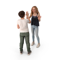 Boy And Girl Playing Posed PNG & PSD Images