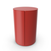 Red Meridiani Gong Due Night Round Table Nightstand PNG & PSD Images
